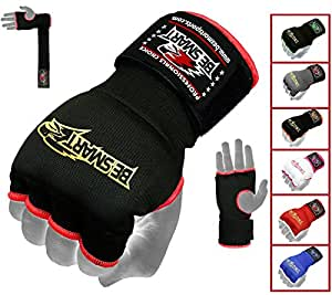BeSmart Fist Gel Bandages MMA Boxing Inner Quick Hand Wraps Gloves Straps bl (Black, Small)