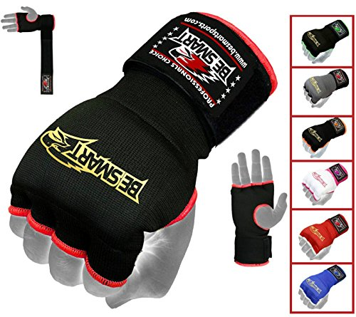 Gel Inner Hand Wraps Gloves Boxing Fist Padded Bandages MMA Gel Thai Kick Carbon Fiber Aero Gel Padded Inner Gloves, 6 Colors