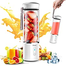 Portable Blender, G-TING Personal Smoothies Blender Cordless, Mini Blender Single Serve 400ml USB Rechargeable Small Juice Mixer Portable Juicer for Shakes, Smoothies, Home, Travel & Gym