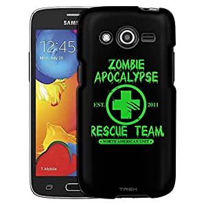 Samsung Galaxy Avant Case, Slim Fit Snap On Cover by Trek Zombie Apocalypse 2012 Rescue Team Green on Black Case