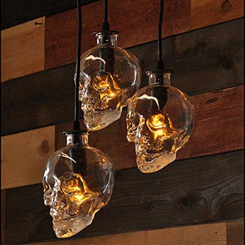 DMMSS Retro Bar And Restaurant Skull Glass Wine Bottle (Light Marble Wall Washer)