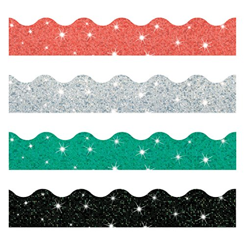 TREND enterprises, Inc. T-92929 Sparkle Solids Terrific Trimmers, Variety Pack, 130' -