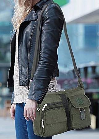 Borsa a spalla donna Nero nero Medium GFM Fashion