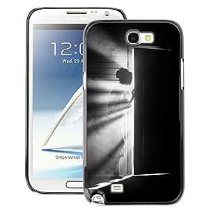 A-type Arte & diseño plástico duro Fundas Cover Cubre Hard Case Cover para Samsung Note 2 N7100 (Meaning Girl Black White Deep)