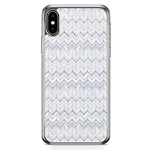 Loud Universe Case For iPhone XS Gray Chevron Pattern Transparent Edge iPhone XS Case