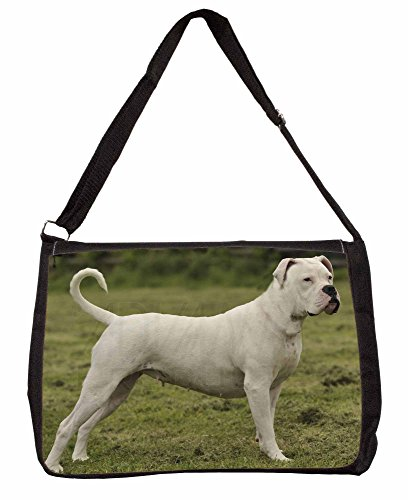 American Staffordshire Bull Terrier Dog Large 16 Black School Laptop Shoulder B