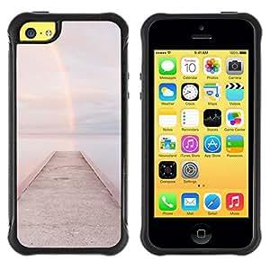 "Hypernova Defender Series TPU protection Cas Case Coque pour Apple iPhone 5C [Playa Embarcadero muelle de aguas""]"