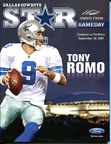 (Dallas Cowboys vs Carolina Panthers Gameday Program September 28, 2009 Tony Romo)