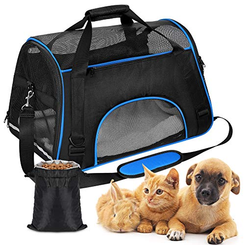 Dog Carrier Backpack,Cat Carrier Bag,Portable Pet Carrier for Dog Cat Puppy Rabbit, Expandable Lightweight Airline…