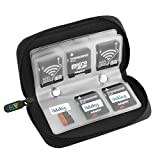 Elv 22 Slots Wallet for SDHC and Micro SD Cards, Jet Black
