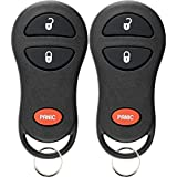 KeylessOption Keyless Entry Remote Control Car Key Fob Replacement for GQ43VT17T, 04686481 (Pack of 2)
