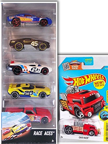 Hot Wheels X-Racers Showdown Bundle: X-Rayers 5 Pack: Scion xB, Nerve Hammer, Hi-Tech Missile, Paradigm Shift, Burl-Esque & 1 Hotwheels Showdown Die Cast Metal Car (Assortments May (Abc Family 13 Days Of Halloween)