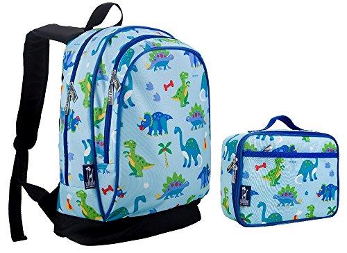 wildkin-dinosaur-land-sidekick-backpack-back-pack-and-lunch-box-school-bundle-set