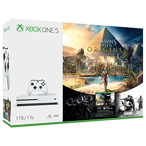 Xbox One S 1TB Console – Assassin's Creed Origins Bonus Bundle [Discontinued] (Renewed)