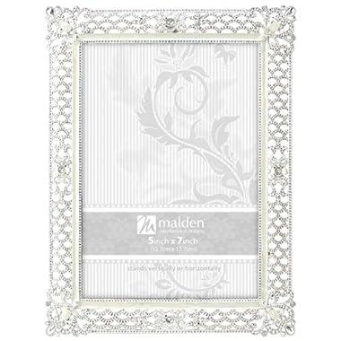 Malden International Designs Clio Silver Metal Picture Frame, 5x7, Silver