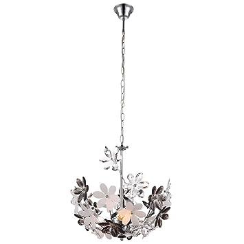 LED Hänge Lampe Blume Wohn Gäste Zimmer Beleuchtung Energie Spar Leuchte D 42 cm