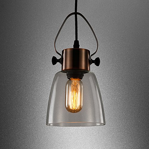 Copper And Glass Pendant Light