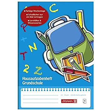 2 Hausaufgaben Hefte DIN A5 je 48 Blatt Hausaufgabenheft Heft