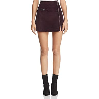 7590808769 [BLANKNYC] Blank NYC Womens Velveteen Asymmetric Zipper Mini Skirt at Amazon  Women's Clothing store: