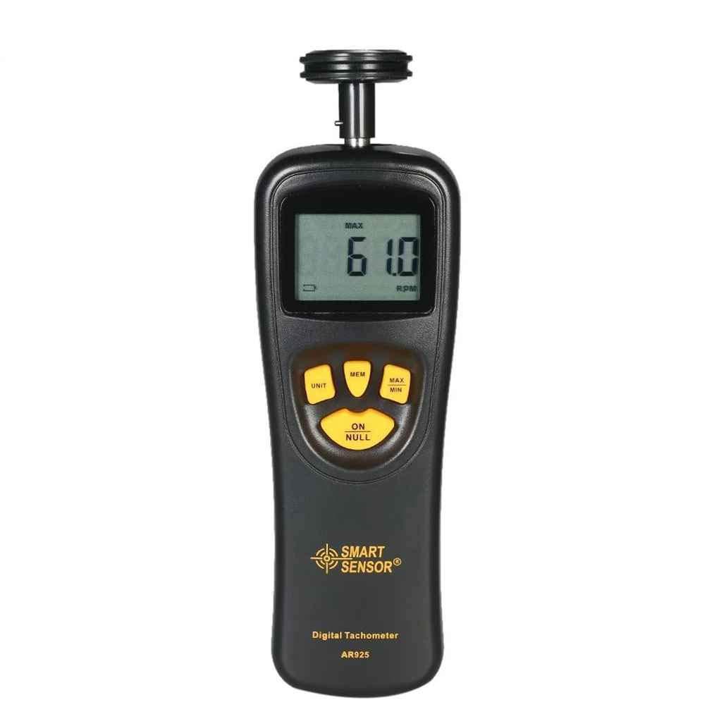 Muluo Smart Sensor AR925 Digital Tachometer 0.05~19999.9m/min 0.5~19999RPM Speedometer Contact Motor RPM Meter