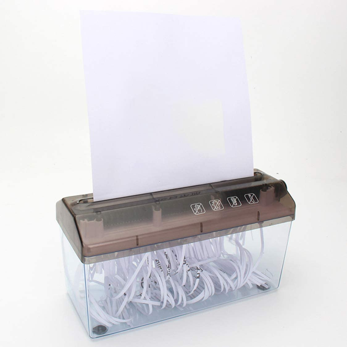 None q2 Noah remarkable Household Mini Small Strip Manual Shredder Daily A4 Paper Hand-cranked Portable