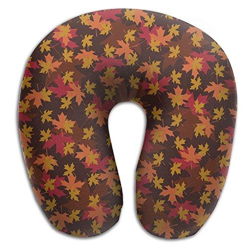 (SARA NELL Memory Foam Neck Pillow Toronto Maple Leaf U-Shape Travel Pillow Ergonomic Contoured Design Washable Cover For Airplane Train Car Bus Office)