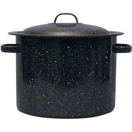 Granite Wear Carbon Steel Core 12-Quart Stock Pot with Lid