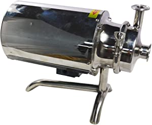 TECHTONGDA 3T/H Sanitary Grade Beverage Pump Stainless Steel Liquid Transfer Machine Food Grade Centrifugal Pump