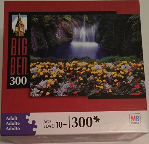 Milton Bradley Hasbro - Big Ben 300 Piece Jigsaw Puzzle From Milton Bradley By Hasbro: Waterfall in British Columbia Canada