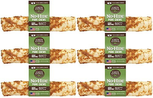 Earth Animal 6 Pack of No-Hide Pork Chews, 4-Inch by Earth Animal