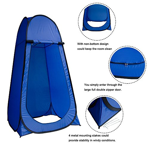 Good concept Tent Toilet Shower Portable Changing Room Waterproof Camp Shelter Privacy Outdoor Camping Outdoo Bathing Hiking 2person Mobile Toilets Clothing Dress by Good concept