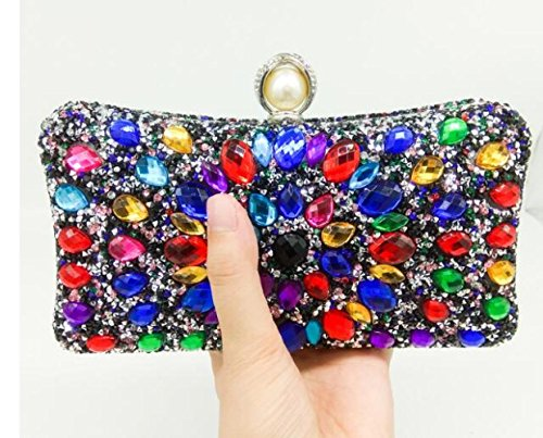 Bag WenL Dinner Clutch Diamond Nouveau nx46Zpqx