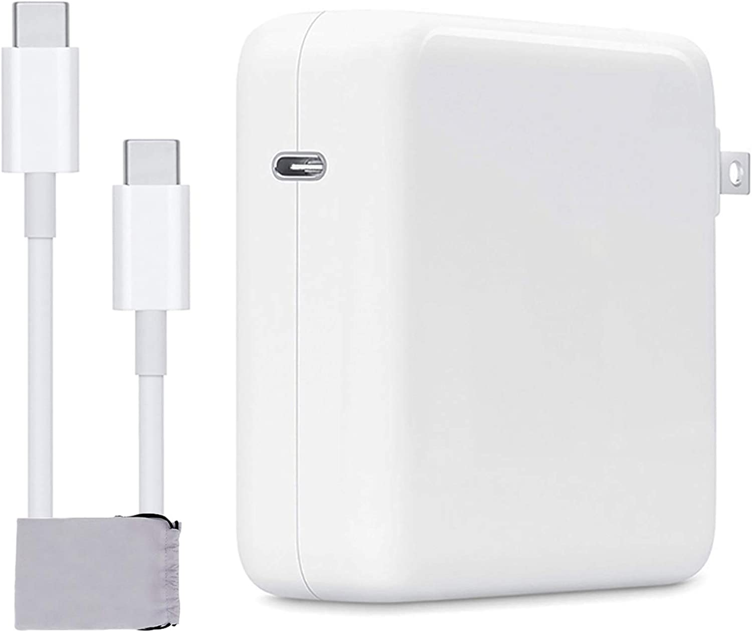 Mac Book Pro Charger, 61W USB C Charger Power Adapter Compatible with MacBook Pro 13 Inch 2020 MacBook Air 13 Inch iPad Pro 2019 2018 Include Charge Cable