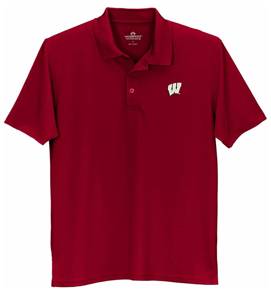 red Wisconsin Badgers Tech Polo Red 2XL