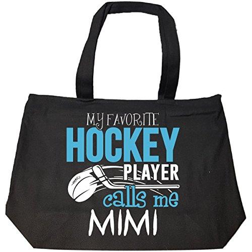 My Favorite Hockey Player Calls Me Mimi - Tote Bag With Zip