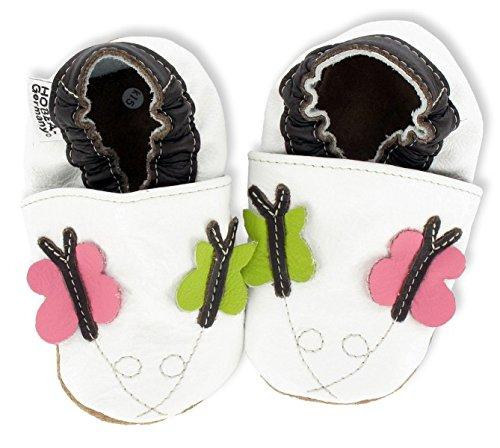 HOBEA-Germany Krabbelschuhe Erdbeere - Pantuflas para bebés Schmetterline