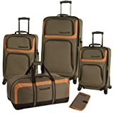Timberland Colebrook 5 Piece Luggage Set, Burnt Olive, One Size