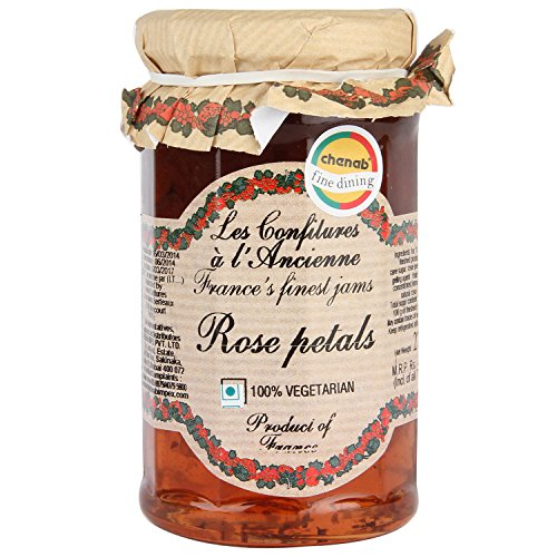 Rose Preserve - Rose Petal Jam Andresy All natural French jam pure sugar cane 9.52 oz jar Confitures a l'Ancienne, One
