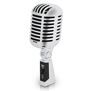 Classic Retro Dynamic Vocal Microphone , Old Vintage Style Unidirectional  Cardioid Mic with XLR Cable , Universal Stand Compatible , Live Performance
