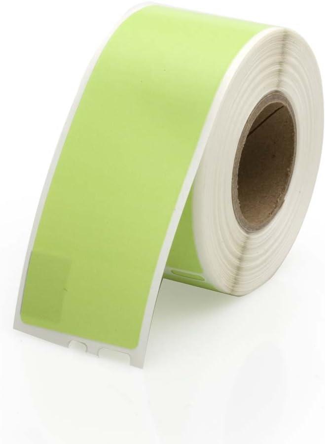 "Seiko Compatible SLP-1GLB Green Address Labels 1 roll per Pack 1-1//8/"" H x 3-1//2/"" W 130 Labels per roll"