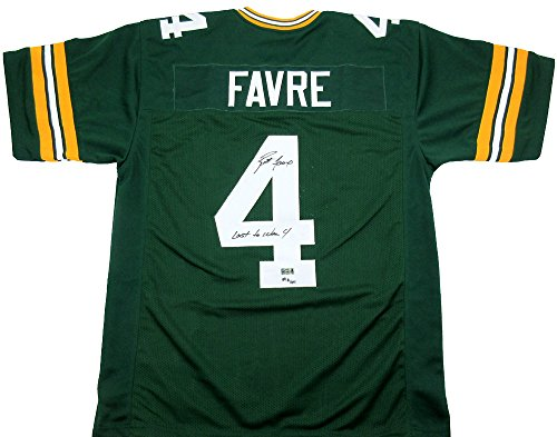 Brett Favre Autographed/Signed Green Bay Custom Home Jersey with