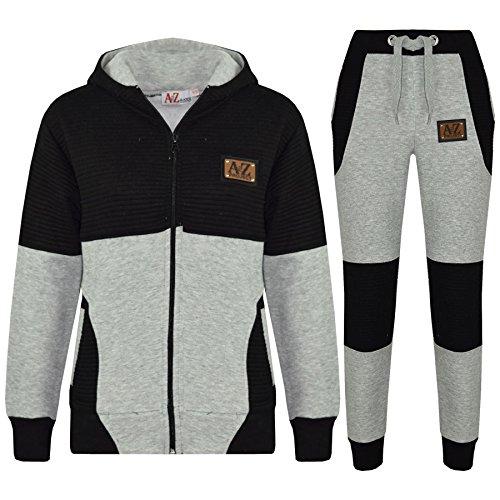 (Kids Jogging Suit Boys Girls Designer's Tracksuit Zipped Top & Bottom 7-13 Years)