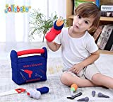 Jollybaby My First Toy Tool Set of 9 - Montessori Toolbox Toy for Kids & Toddlers 1 Up Years, Ultra Soft Fill and Spill Kids Tool Set, Learning to Hands-on Practical & Indentify Pretend Toys