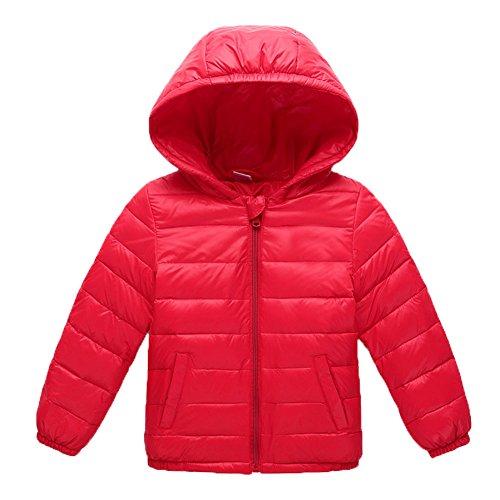 Ohmais Unisex Jungen Mädchen Winter Down Jacket verdickte Winterjacke Jungen Mantel verdickte Trenchcoat Jungen Outerwear mit Kapuzen