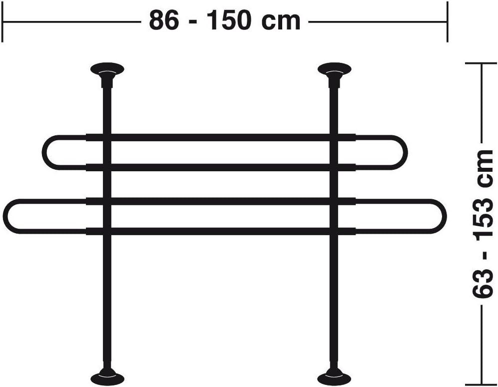 Hundegitter f/ür den Kofferraum H/öhe 63-110 cm schwarz silber Trenngitter 40929 Hundeschutzgitter