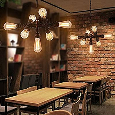 Industrial Wall Sconces Light, MKLOT Vintage Wall Lighting Fixtures Iron Pipe Wrought Iron Water Pipes for Bedroom Cafe Bar Living Room Salon