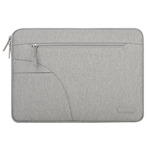 Mosiso New Style Polyester Fabric Laptop Sleeve Carrying Case Cover Protector Bag with Pocket for 15-15.6 Inch MacBook Pro, Ultrabook Netbook Tablet, (Laptop Sleeve Protector)