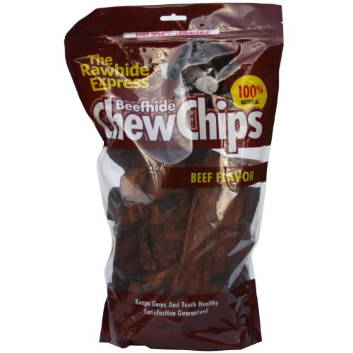 The Rawhide Express Beef hide Chew Chips Beef Flavored (Great Reward or Treat) - Outlet Lennox