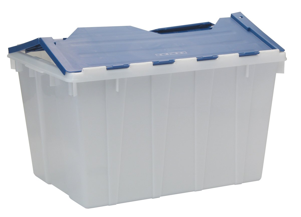 Exceptional Amazon.com: United Solutions TO0040 White Thirteen Gallon Flip Lid Storage  Tote   13 Gallon Storage/Organizing Box With Blue Flip Lid In White: Home U0026  ...