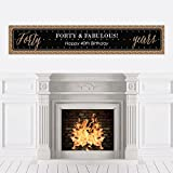 Chic 40th Birthday - Black and Gold - Birthday Party Decorations Party Banner